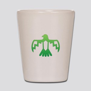 Green Thunderbird Shot Glass