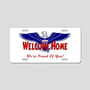 Military Welcome Home Aluminum License Plate