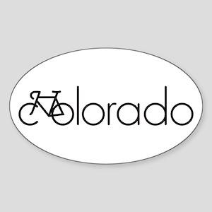 Bike Colorado Sticker (Oval)