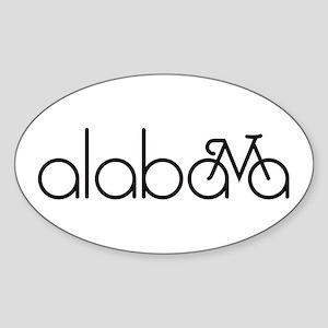 Bike Alabama Sticker (Oval)