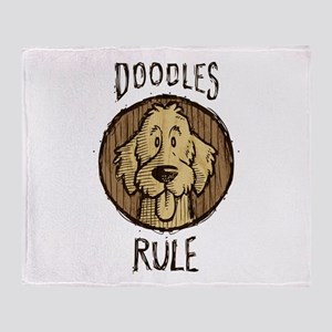 Doodles Rule Throw Blanket
