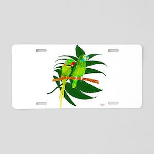 The Green Parrots Aluminum License Plate