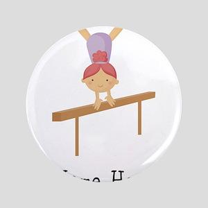 """gymnast on beam 3.5"""" Button"""