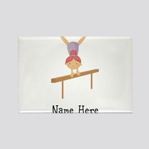 gymnast on beam Rectangle Magnet