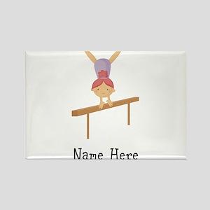 gymnast on beam Rectangle Magnet