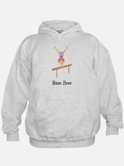 gymnast on beam Hoody