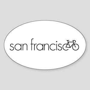 Bike San Francisco Sticker (Oval)