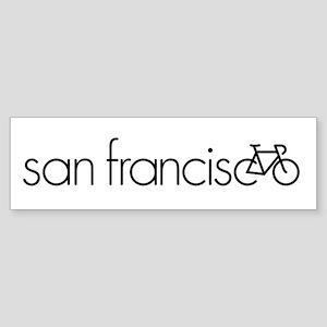 Bike San Francisco Sticker (Bumper)