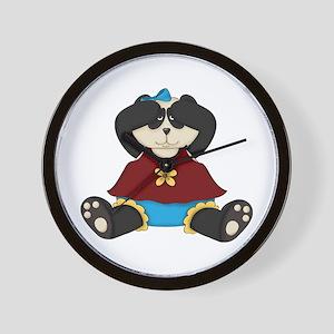 Peek A Boo Panda Bear Wall Clock