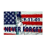 9-11-01 Never Forget 35x21 Wall Decal