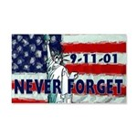 9-11-01 Never Forget 20x12 Wall Decal