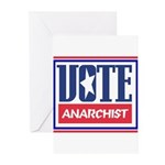 VOTE anarchist Greeting Cards (Pk of 10)