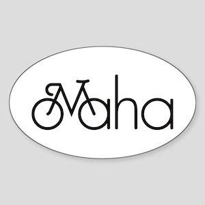 Bike Omaha Sticker (Oval)