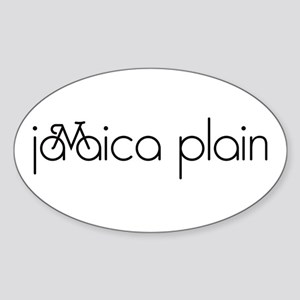 Bike Jamaica Plain Sticker (Oval)