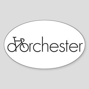 Bike Dorchester Sticker (Oval)