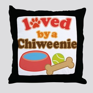 Chiweenie Dog Gift Throw Pillow