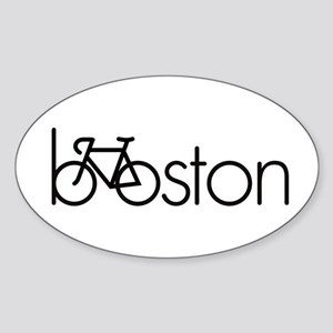 Bike Boston Sticker (Oval)