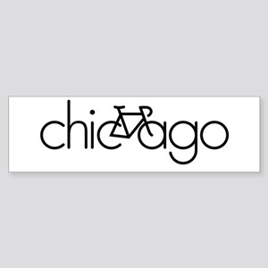 Bike Chicago Sticker (Bumper)