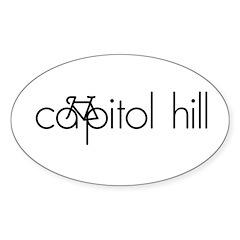 Bike Capitol Hill Sticker (Oval)