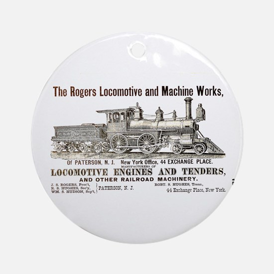Rogers Locomotive Works 1870 Ornament (Round)