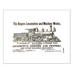 Rogers Locomotive Works 1870 Small Poster