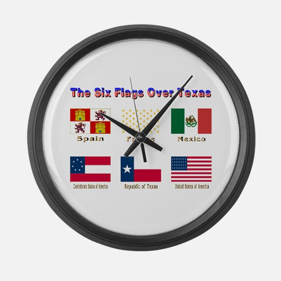 The Six Flags Over Texas Large Wall Clock