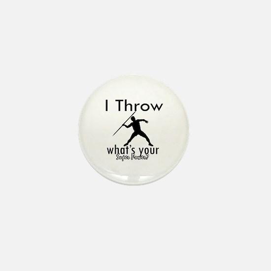 I Throw Mini Button