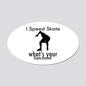 I Speed Skate 22x14 Oval Wall Peel