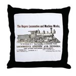 Rogers Locomotive Works 1870 Throw Pillow