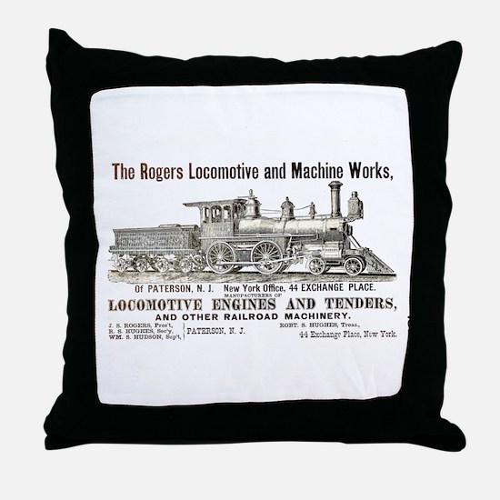 Rogers Locomotive Works 1870 Throw Pillow