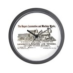 Rogers Locomotive Works 1870 Wall Clock