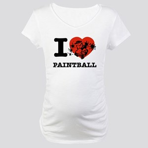 I love Paintball Maternity T-Shirt