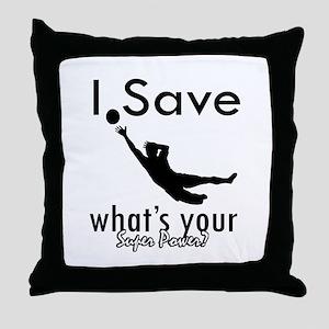 I Save Throw Pillow