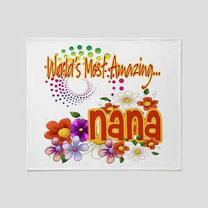 Most Amazing Nana Throw Blanket