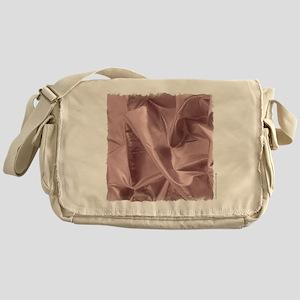 Metallic Pink Fabric Messenger Bag