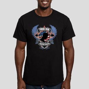POW/MIA Cross & Heart Men's Fitted T-Shirt (dark)