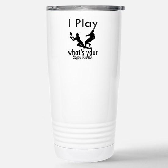 I Play Stainless Steel Travel Mug