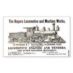 Rogers Locomotive Works 1870 Rectangle Sticker