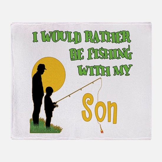 Fishing With Son Throw Blanket