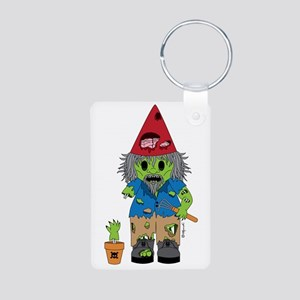 Zombie Gnome Aluminum Photo Keychain