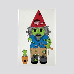 Zombie Gnome Rectangle Magnet