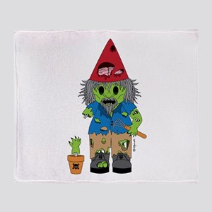 Zombie Gnome Throw Blanket