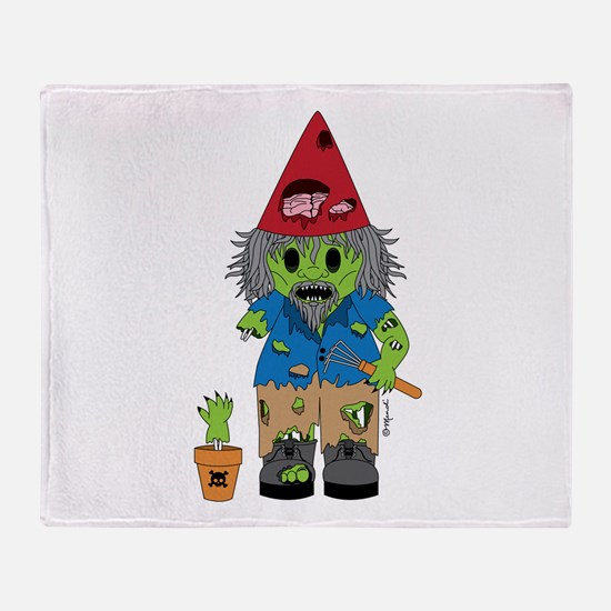 Zombie Gnome Throw Blanket
