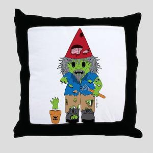 Zombie Gnome Throw Pillow
