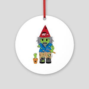 Zombie Gnome Ornament (Round)