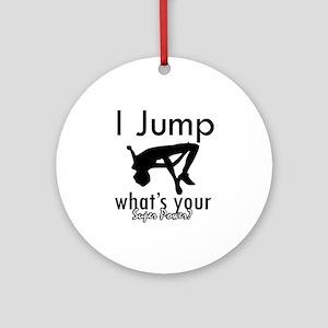 I Jump Ornament (Round)