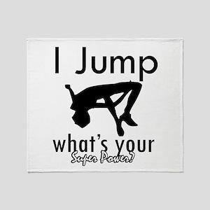 I Jump Throw Blanket