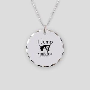 I Jump Necklace Circle Charm