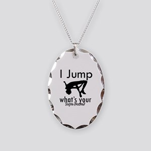I Jump Necklace Oval Charm