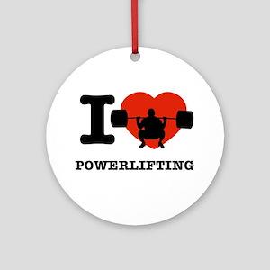 I love Power lifting Ornament (Round)